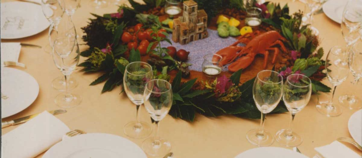 Scénographie : Dîner au Trianon Palace, grande gastronomie